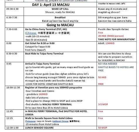 itinerary schedule template personal travel itinerary template search the