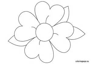 Pics photos simple flower coloring pages for kids