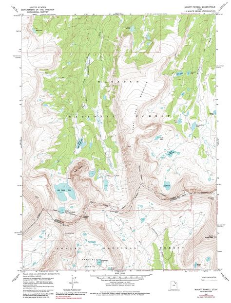 topographical map of utah mount powell topographic map ut usgs topo 40110g4