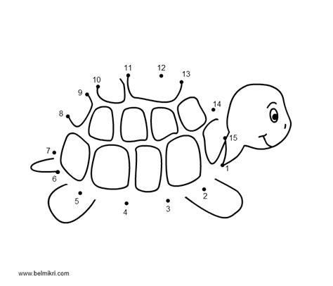 dot to dot turtle printable printable coloring pages dot the dot