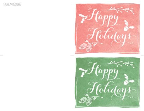 printable happy holiday cards free falala designs happy holidays mini cards