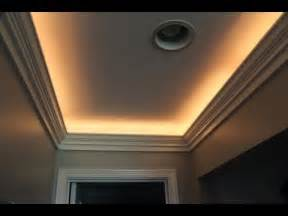 Thin Led Under Cabinet Lighting Crown Molding With Indirect Lighting Installation Youtube