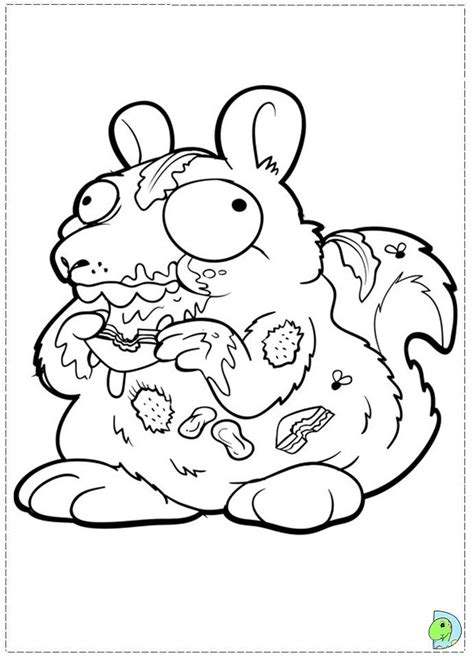 trash pack coloring page coloring home