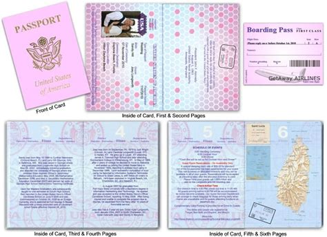 passport wedding invitation template free these guys made their invite so passport like i like the