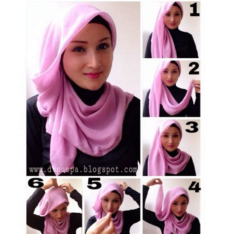 tutorial jilbab pesta yang simple cara memakai jilbab segi empat simple