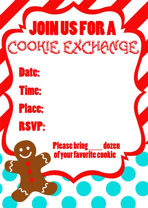 Cookie Exchange Party Free Printables Uncommon Designs Cookie Invitations Templates