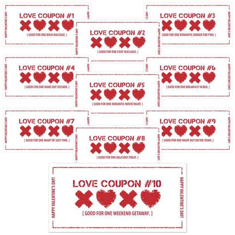 pinterest free printable love coupons free printable love coupons valentines diy gifts http