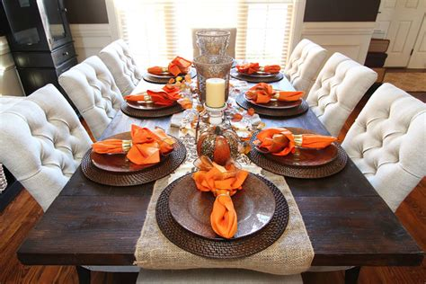 Fall Dining Room Table Kevin Amanda Food Travel Blog Dining Table Decorations