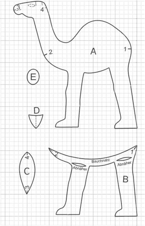 Filz Vorlagen Muster Schnittmuster Stofftier Kamel Kuscheltiere Und Puppen Muster Tiere Und Kamel