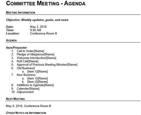 how to take meeting minutes template 15 best meeting agenda templates for word