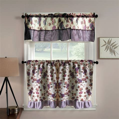 Grape Kitchen Curtains Grapes Kitchen Curtains Collections Etc Vineyard Grapes Embroidered Kitchen Curtains Valance