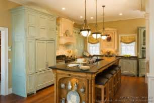 Kitchen Armoire Cabinets by Pictures Of Kitchens Traditional Green Kitchen Cabinets