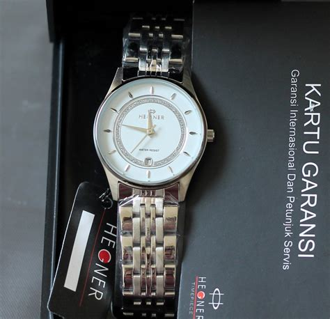 Hegner 1568 Silver White Original hegner jam tangan hegner wanita pria garansi