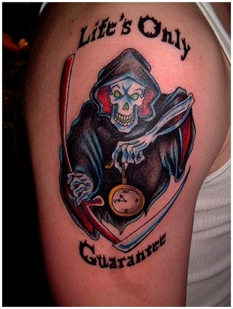 35 horrifying grim reaper tattoo designs