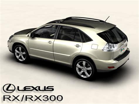 lexus models 2004 lexus rx rx300 2004 3d model max obj 3ds cgtrader com