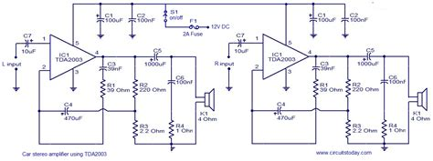 car lifier integrated circuit car audio lifier circuit schematic diagram the circuit