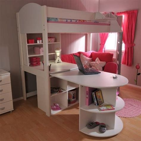 girls loft bed with desk girls loft bed with desk stompa casa 4 high sleeper bunk