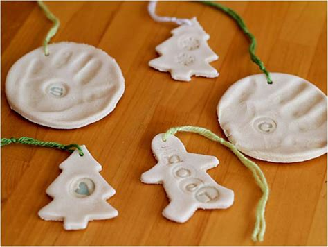 kids craft salt dough ornaments