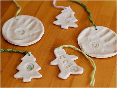 kids craft salt dough ornaments
