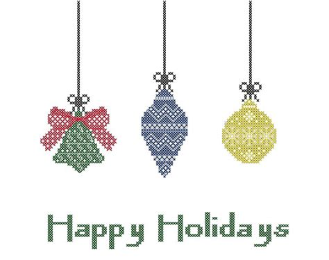 holiday cross stitch pattern christmas tree ornaments