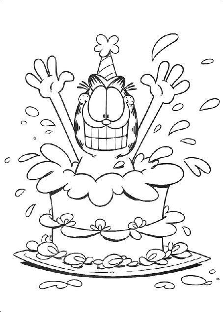 birthday cat coloring page cat coloring pages bing images coloring cats