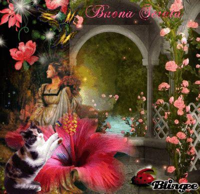 fiori e fantasia canzone immagine buona serata 129237600 blingee