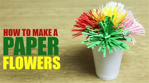 How To Make Bouquet Of Paper Flowers - how to make a paper flower diy paper flower bouquet
