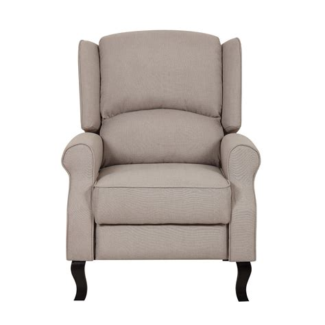 contemporary recliner chair container linen fabric recliner reviews wayfair