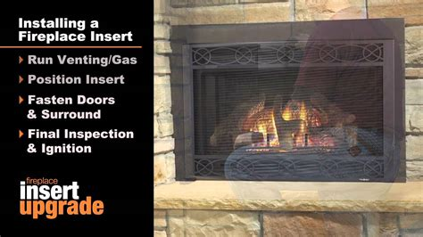 Installing Gas Insert Into Existing Fireplace by Heatilator 174 Gas Fireplace Insert Installation