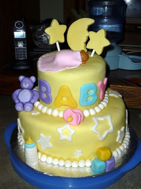 Moon And Baby Shower by Moon Baby Shower Cake Cakecentral