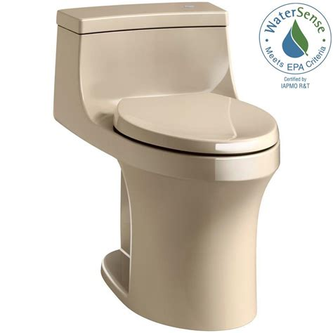 one piece comfort height toilet kohler san souci touchless comfort height 1 piece 1 28 gpf