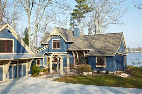 pentwater lake cottage exterior grand rapids by new home builders