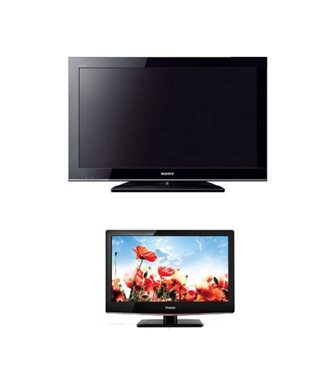 Lcd Tv Haier 32 Inch buy sony 81 cm 32 klv32bx350 lcd television with haier 22c430 led television at best