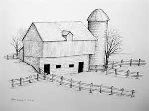 drawings of barns barn