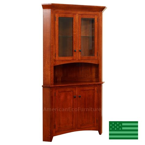 Corner Cabinet Hutch by Amish Sebring Corner Hutch Solid Wood Made In Usa