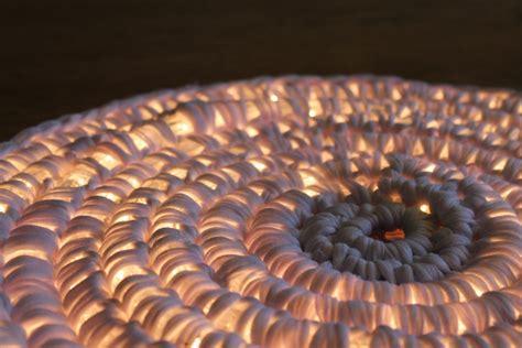lighted crochet rug cool creativity diy crochet string light carpet for your