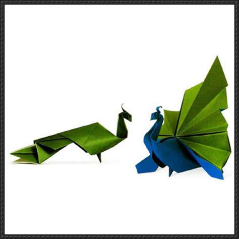 How To Make A Origami Peacock - origami peacock free diagram