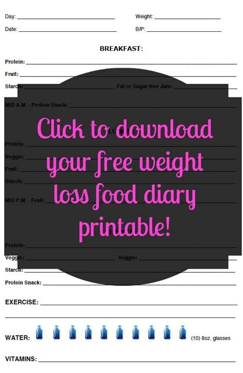 food journal template best bussines template