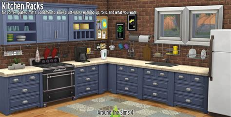 Around the Sims 4 Custom Content Download Kitchen Racks