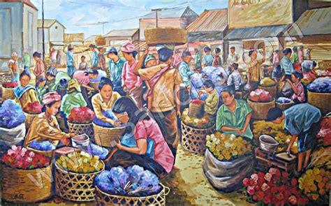 ps 025 lukisan pasar bunga sancita