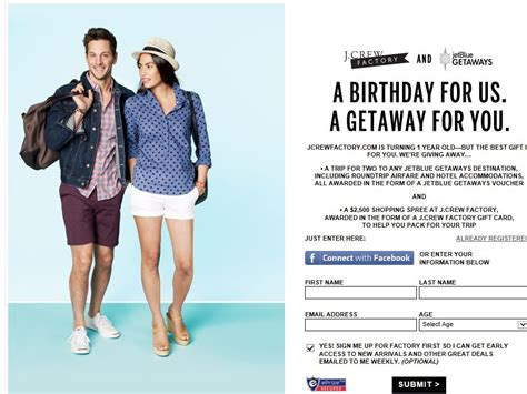 Jet Blue Sweepstakes - j crew factory and jetblue getaways sweepstakes