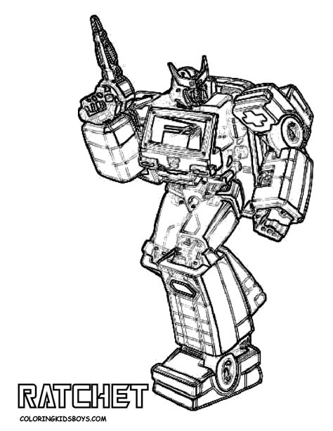 Transformers Coloring Pages Ratchet | tenacious transformers coloring page yescoloring free