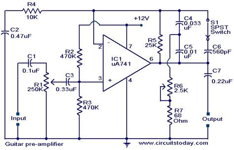 electric guitar lifier circuit schematic get free image
