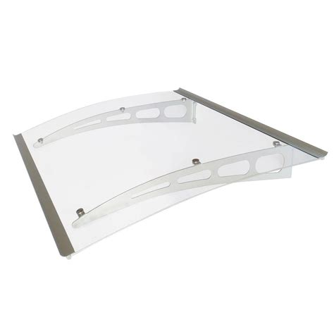 polycarbonate awning brackets advaning pa series solid polycarbonate sheet door awning
