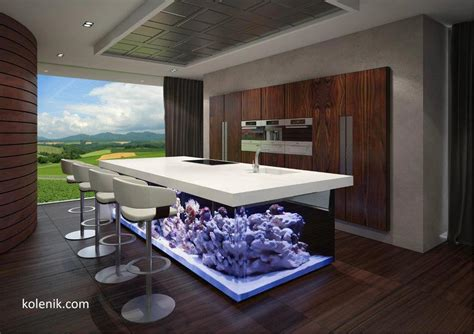 Fish Tank In Kitchen by 25 Rooms With Stunning Aquariums Decoholic