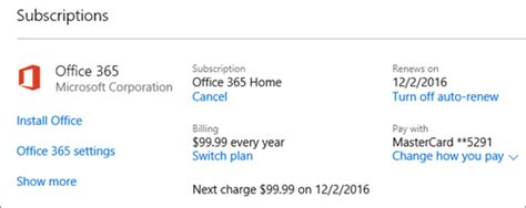 Office 365 Your Subscription Has Expired Cancel Office 365 Personal Suscription Microsoft Community