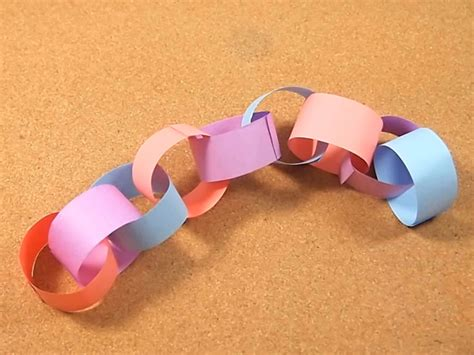How To Make Paper Chain - 3 ways to make a paper chain wikihow