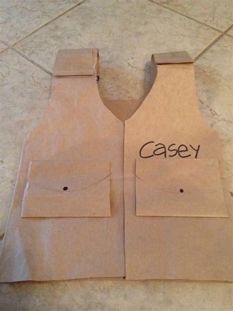 pattern in making paper bag diy child safari vest temple adventure