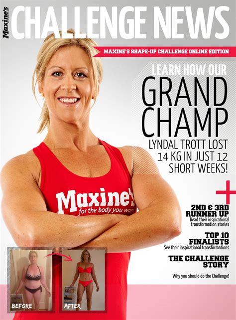 maxes challenge challenge news maxine s shape up challenge