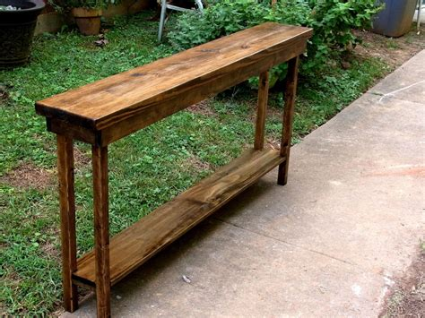 narrow sofa table 60 quot rustic console table narrow sofa table entryway